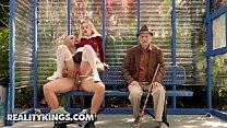 Teens love Huge COCKS - (Riley Star, Jmac) - Bus Bench Biddie - Reality Kings