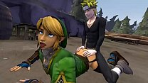 Naruto fucking Link in doggy style