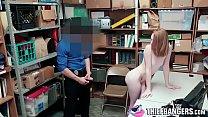 Hairy Ginger Minge Teen Thief Katy Kiss Arreste...