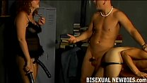 Bisexual strap on porn
