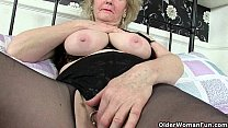 British granny Claire Knight is pleasuring her old cunt thumbnail