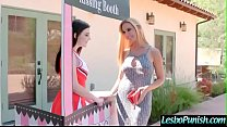 Horny Sexy Lesbians (Sandy Fantasy & Jenna Reid) In Hard Punish Sex Tape video-29