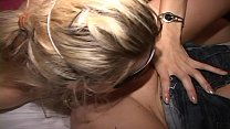 Lovely blonde MILF used by cuck and big dick couple-Smeared w sweat-scum