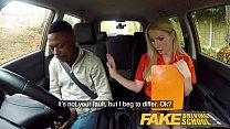 Fake Driving School Long black cock pleases busty blonde examiner thumbnail