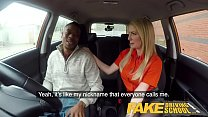 6930 Fake Driving School Long black cock pleases busty blonde examiner preview