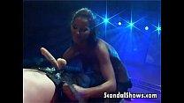 Lovely striper puts a dildo inside her thumbnail