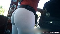 AMAZING WHITE SPANDEX LEGGINGS  ROUND ASS Gas Station Girl. Join CandidSluts.com and Watch All Of Our Videos pornhub video