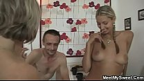 Dude joins his parents and GF foursome Preview