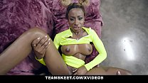 TeamSkeet - Busty Black Teen (Kinsley Karter) Sucks A Huge White Cock
