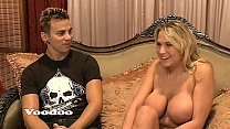 Busty Bimbo Alana Licked, Titty Fucked & Cum Facialed. BEST Big Fake Boobs! Bra-busting Juggs and a Deep Throat