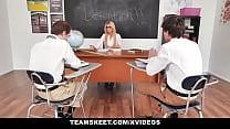 TeamSkeet - Teacher Fucks Students in Detention thumbnail