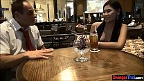 Business man cheating with a very pretty Thai hooker صورة