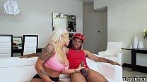 Huge Jugs Brandi Bae Fucking Black Dude at Home while Boyfriend is Around Preview
