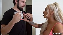 Huge Jugs Brandi Bae Fucking Black Dude at Home while Boyfriend is Around preview image