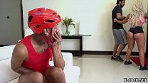 Huge Jugs Brandi Bae Fucking Black Dude at Home...