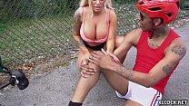 Image: Huge Jugs Brandi Bae Fucking Black Dude at Home while Boyfriend is Around