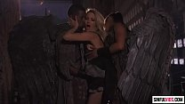 Threesome with black angels: Jessica Drake, Misty Stone and Isiah Maxwell - Fallen 2 Scene 2