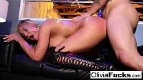 Olivia Austin takes on a customer in the VIP صورة