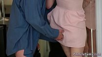 Real dad and teen compeer's comrade's daughter first time Risky