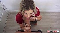My busty MILF stepmom blows me while dad on the phone pornhub video