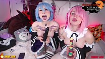 Ram Rem cosplay webcam girl zzzirael cherry acid