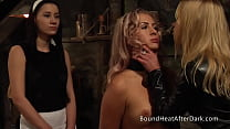 Beautiful Blonde Lesbian Slave In BDSM Training With Madame