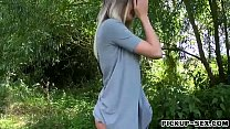 Big tits blonde eurobabe boned in public