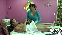 Myka showed how to apply oil in Meat Massage by HappyTugs Preview