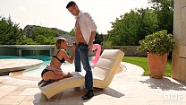 Bikini teen Tiffany Tatum gets her sweet wet pink fucked hard by the pool Preview