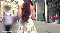 Funk City - Jeny Smith walks in public in transparent dress without panties thumbnail