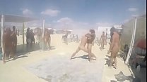 [Bbw wife shared] ◦ Challenge naked men on the beach thumbnail