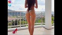 Fabulous body teen teasing with long muscles legs