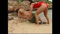 German lifeguard sucking and fucking on the beach! pornhub video