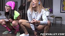 Sizi Sev, Zoey Reyes In Young Black Vixens Ride The Joystick