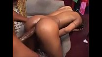 Ebony babe Rides Monster cock