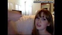 Girl blows and gets cum on cam