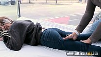 Hot Mey Madness Plays with a Powerful Vibrator in Public