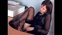 Brunette masturbates in sheer stockings and heels tumblr xxx video