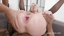 Double Anal Creampie for the Milf, Yelena Vera Vs 2 BBC, Balls Deep Anal, DAP, Gapes and Creampie Swallow GL402