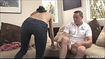 7759 Sexy Brunette Morning Handjob On The Couch preview