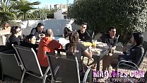Alexa's breakfast is DICKS!!. Hot outdoors orgy and masturbation