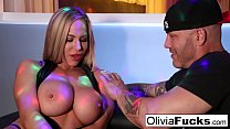 Stacked blonde stripper takes on a customer in the VIP Preview