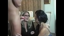 Home teacher and mother threesome