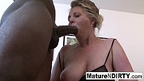 Dirty mature in lingerie can't get enough inter...