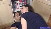Classy milf pounded by plumber