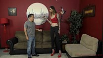 6 Foot 3 Rocky Emerson Dominates Her Short Roomate - Femdom & Ass Worship porn image