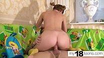 MY18TEENS -  Slut Hard Doggy Sex and Cowgirl - Cum in Mouth صورة