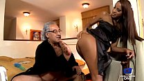 The maid gets fucked in the ass by a rich old man