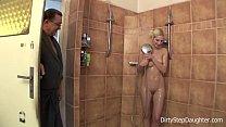 DiryStepDaughter - Lewd Stepdad Shower Fucks Blonde Stepdaughter