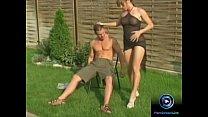 Hot blonde girl Misty Mild love getting boned outdoors